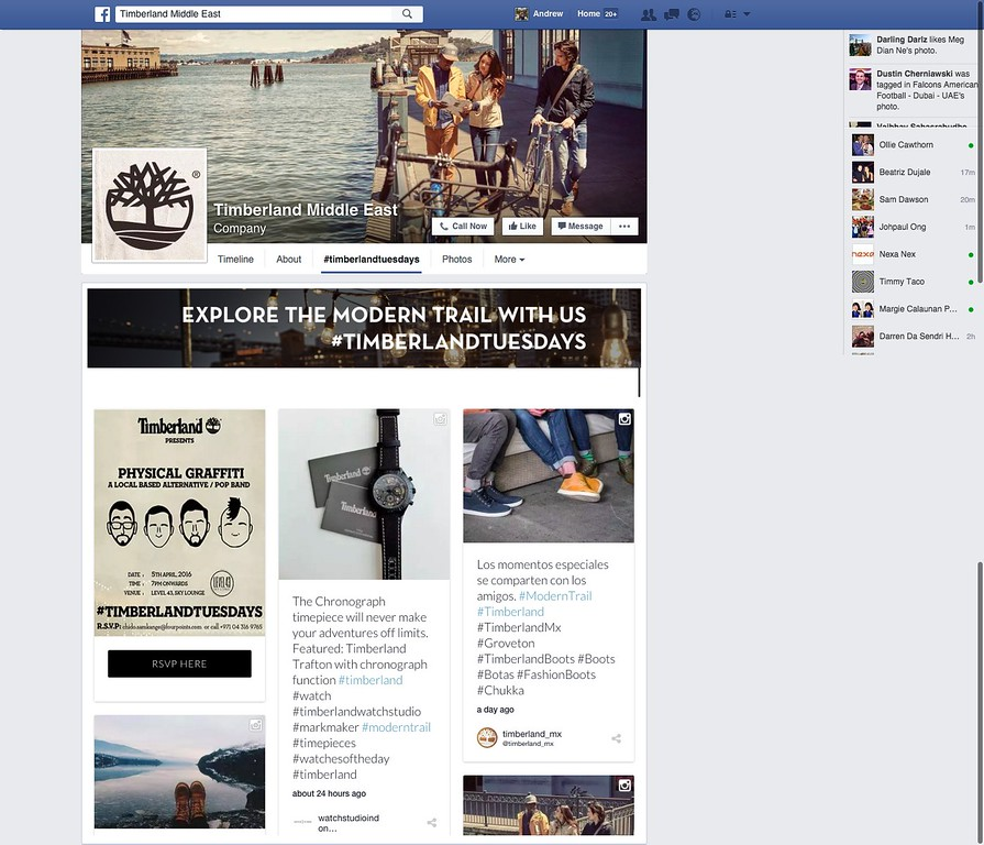 Timberland Middle East Facebook #TimberlandTuesdays