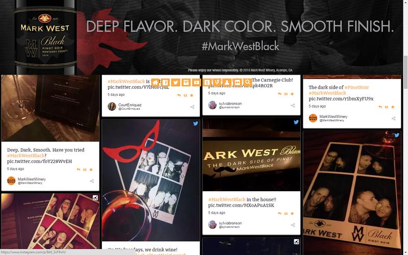 Mark West Black Wine Event