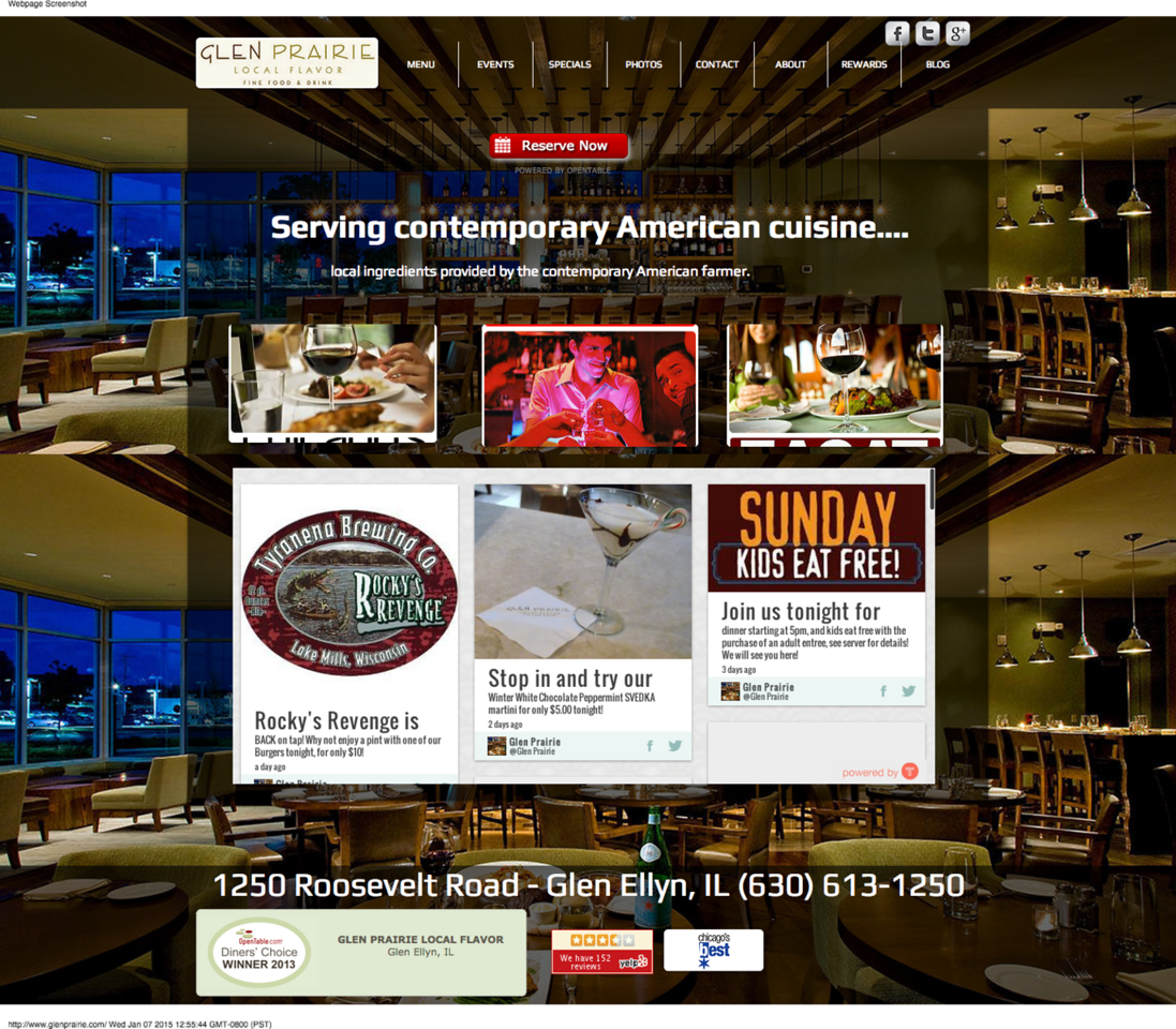 Glen Prairie Local Flavor Fine Food Drink restaurant serving contemporary american cuisine