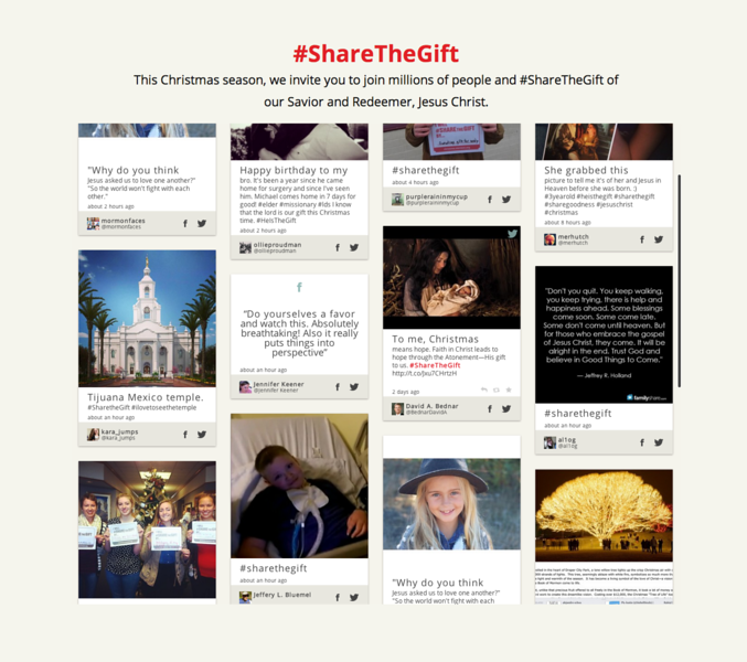 Mormon Christmas #ShareTheGift