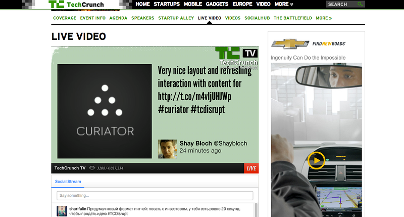 TCDisrupt Screen