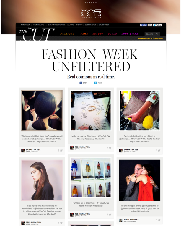 Fashion Week Unfiltered– TheCut