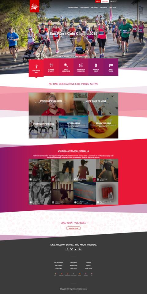 Virgin Active Website