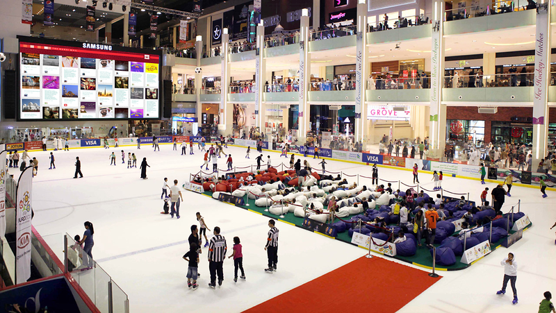 Render Ice Rink - Mall - Samsung Screen