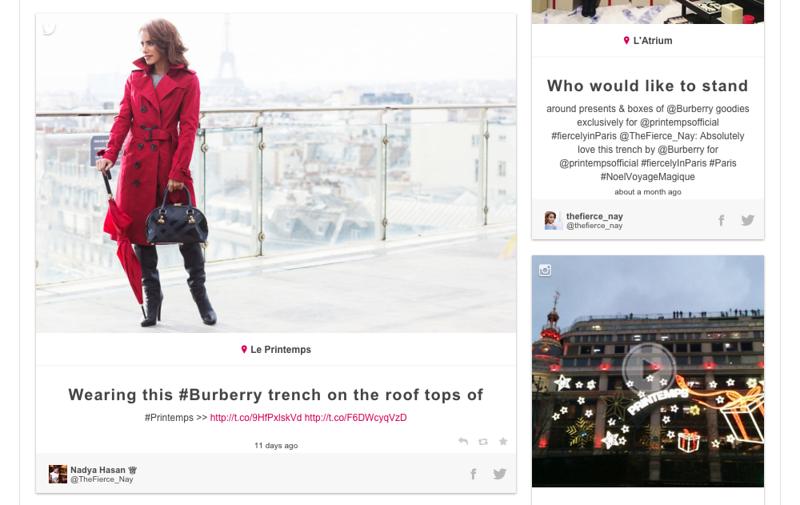 Printemps Votre rendez-vous Mode - CSS integration with map and location tags