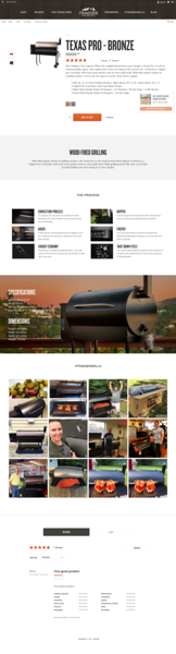 Traeger Wood Fired Grills Product Page 1