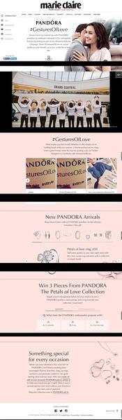 Marie Clarie, Pandora, Website