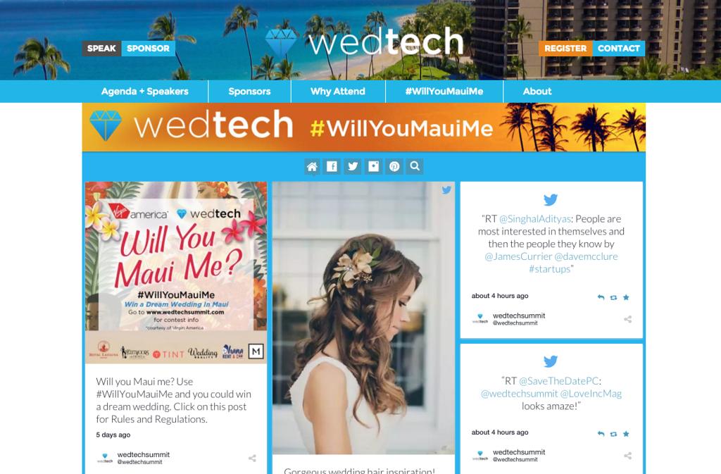 WedTech Website Hashtag