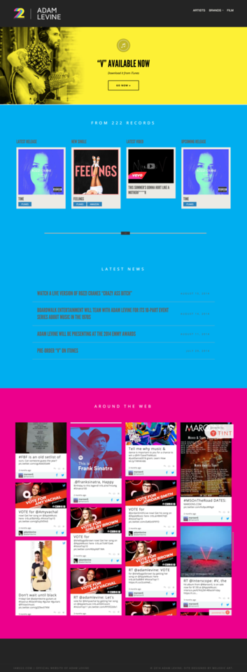Adam Levine Website