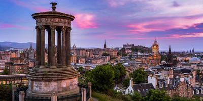 Scotland Downtown Edinburgh by Scott Donschikowski
