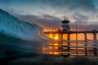 HB Sun Under Pier