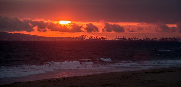 Long Beach Industrial Sunset