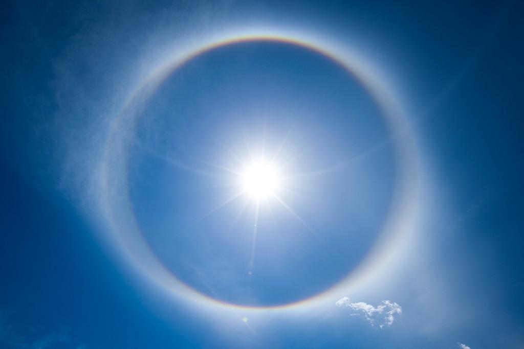 Sun Halo from Mount Diablo