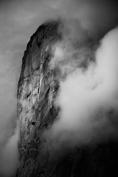 El Capitan in the Clouds