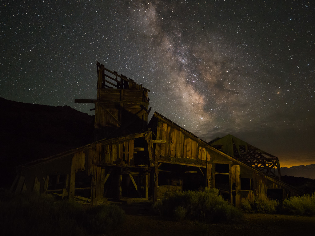 Abandoned Mine and Night Sky