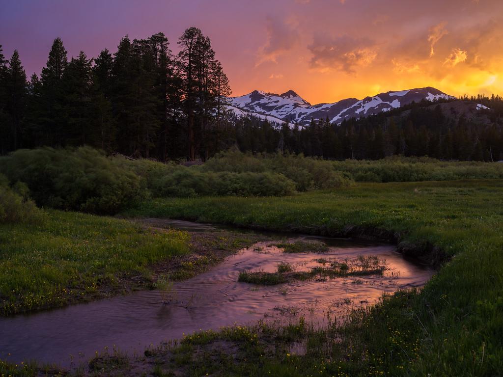 Sunset, Faith Valley