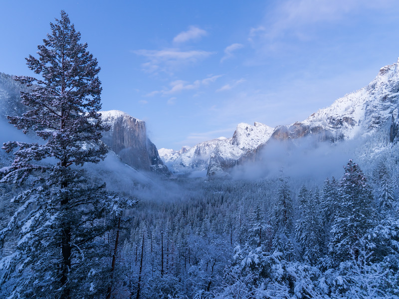 Tunnel View in Winter