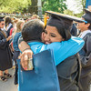 "The University of Rochester, College of Arts Sciences and Engineering, One Hundred Sixty-Fourth College Commencement, Sunday, May 18, 2014, Eastman Quad, River Campus. <br /> <br /> Cody Civiletto (friend of graduate), and Abhiniti Mittal '14 celebrate Commencement with a hug in the Eastman Quad.<br /> <br /> Photo by Brandon Vick, University Communications<br /> <a href=""http://www.rochester.edu"">http://www.rochester.edu</a>"