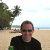 "Shawn definitely looks like he was enjoying our pre-lunch ""Presidente"" beer and the awesome weather at the beach!"