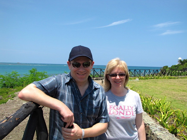 "Today we did a nice beach stroll along the 3 ""Riu"" resorts in the area we're staying at... looks like Tanya & Shawn are enjoying the warm weather, sunny skies & the surrounding ocean! :-)"