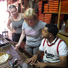 For our 1st day in Puerto Plata in the Dominican we headed into town to tour around & do some shopping... there's Nancy & Tanya (Shawn's sister) getting a cigar-rolling lesson from a local.