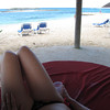 There was our view from our day-bed on the private beach at Sandals Cay... not a bad way to spend a day! :-)