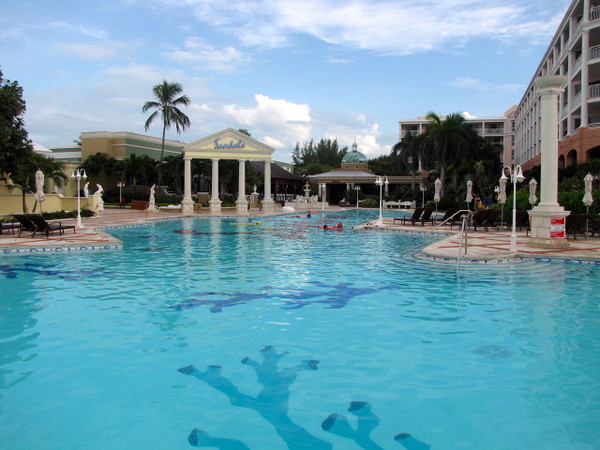 There's the resort's main pool... a great place to cool off on a hot Bahamian day!
