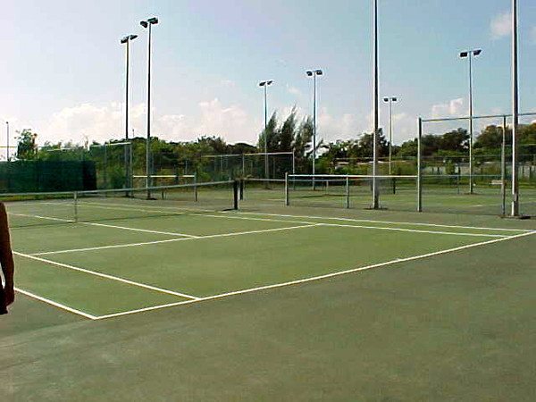 If you're a Tennis lover, Sandals Royal Hicacos has a couple of courts onsite... and they're lit at night.