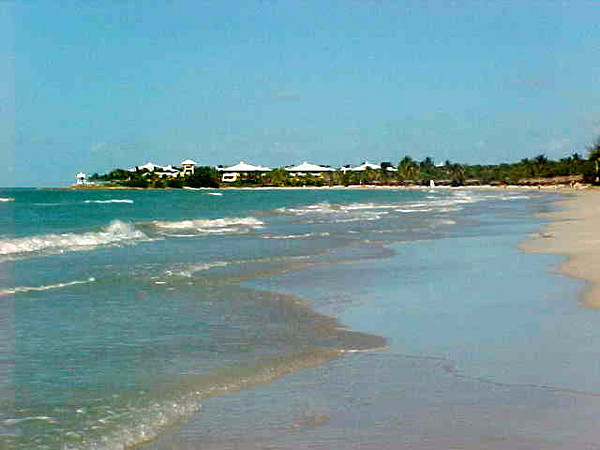 The beach at the resort goes on for miles and is gorgeous the whole way... make sure to take a walk in the water & sand when there but don't forget your sunscreen... it gets hot there! :-)
