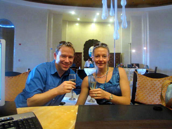 """Welcome Home Mr & Mrs Power!"" was our greeting as we stepped inside the resort and we then enjoyed a ""Champagne Welcome"" at check-in... now we definitely like that!! :-)"