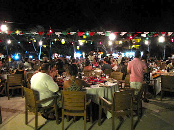 "There's a glimpse at our ""Mexican Fiesta"" night where we ate & got entertained under the stars... a great way to spend an evening!!"