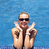 "Nancy's looking pretty happy to be ""chillin"" in Mexico! :-)"