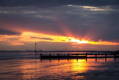 Sunset at Bracklesham beach