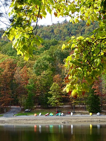 Colorful Canoes at Cowans Gap