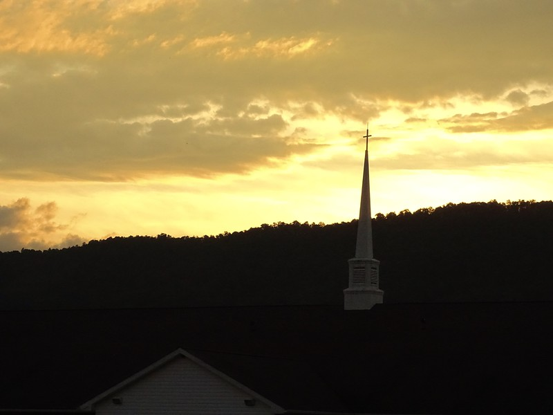 Sunset over Amberson United Methodist Church