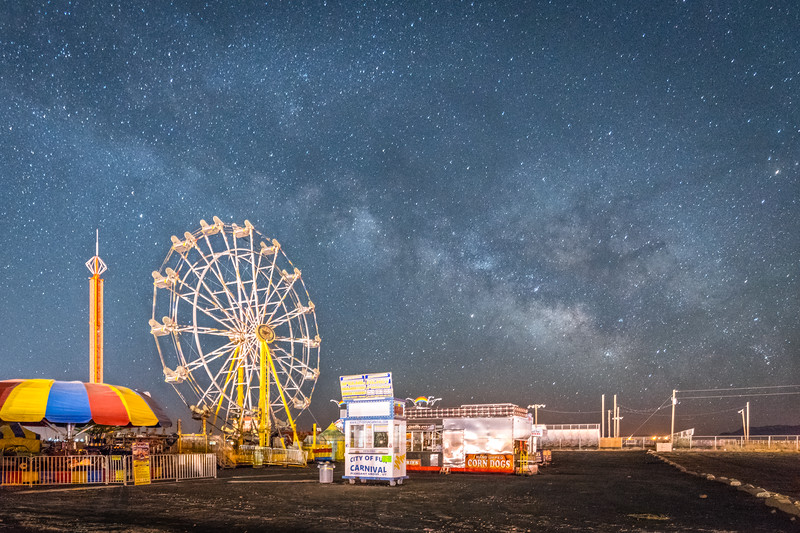 Milky Way Over The Midway‬ff