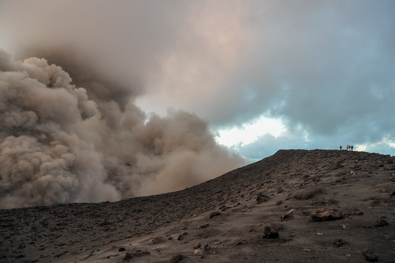 Walking on the Rim: Yasur Volcano