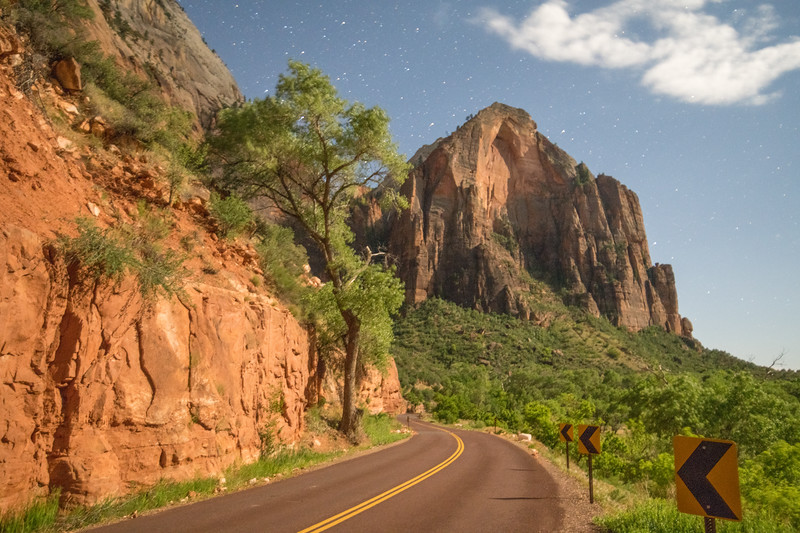 Zion National Park in Moon Light
