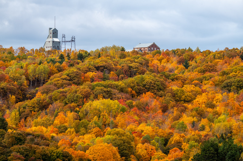 Quincy Copper Mine in the Fall