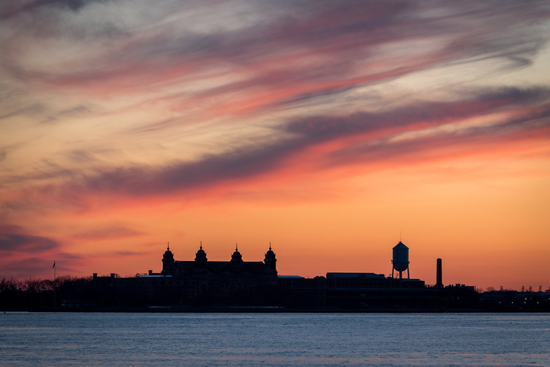 Ellis Island at Sunset