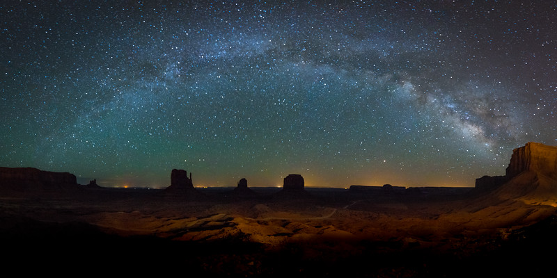Milky Way Arches Over Monument Valley, Arizona