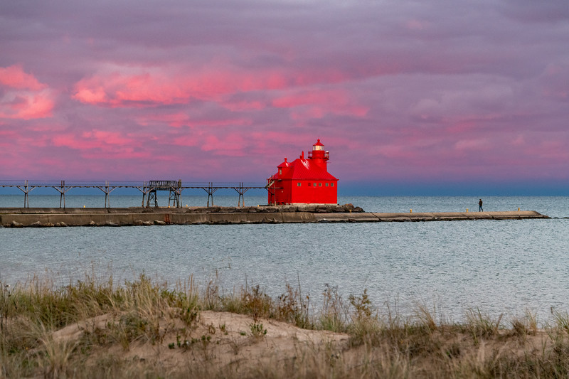Sturgeon Bay Lighthouse at Sunset