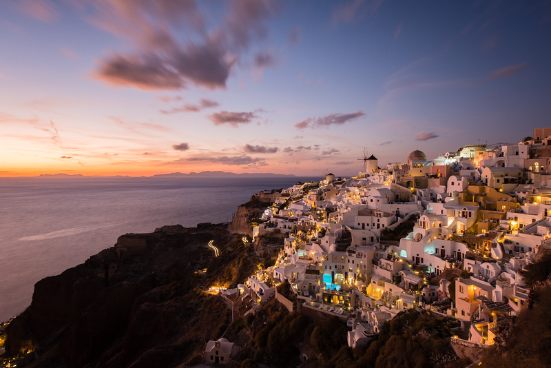 The always breathtaking sunset over Oia