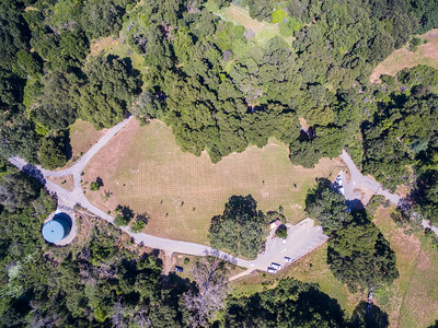 Aerial Scenery. Parking Lot of Augustin Bernal Park. Augustin Bernal Park - Pleasanton, CA, USA
