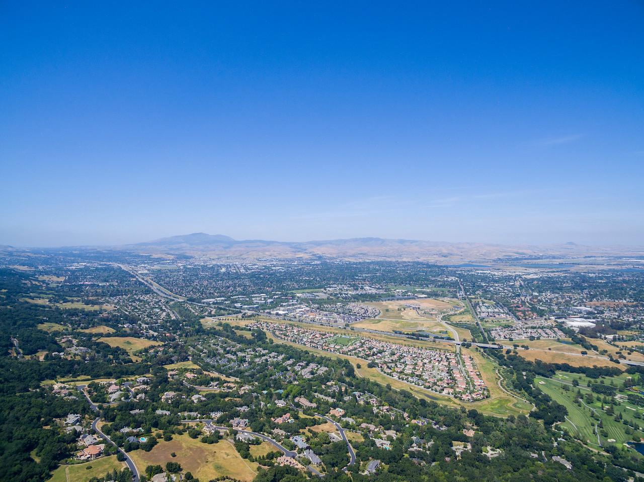 Aerial Scenery. Highway seen is Interstate 680. Augustin Bernal Park - Pleasanton, CA, USA