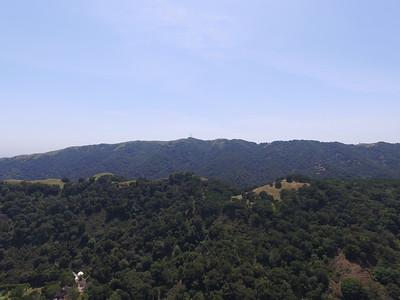 Aerial Scenery. Peak of Augustin Bernal Park. Augustin Bernal Park - Pleasanton, CA, USA