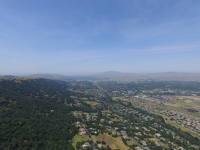 Aerial Scenery. Facing Stoneridge Mall & Dublin, CA. Highway seen is Interstate 680. Augustin Bernal Park - Pleasanton, CA, USA