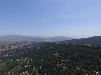 Aerial Scenery. Facing Pleasanton Ridge Regional Park. Augustin Bernal Park - Pleasanton, CA, USA