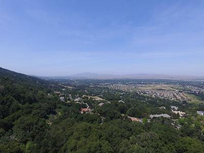 Aerial Scenery. Facing Stoneridge Mall & Dublin, CA. Highway seen is Interstate 680. Augustin Bernal Park - Pleasanton, CA, USA