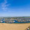 Panoramic Aerial Scenery. Slifer Park (bottom right corner). Discovery Bay, CA, USA